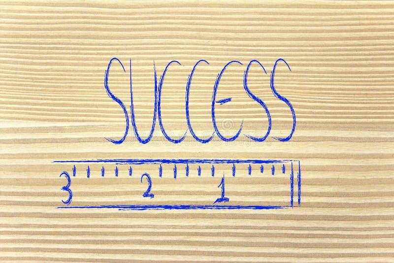 Mierzy twój sukces obraz royalty free