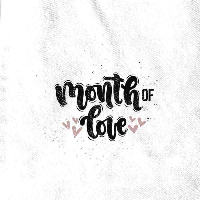 miesiąc miłość ilustracji