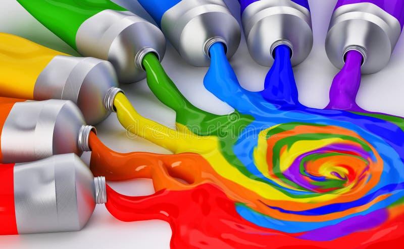 Mieszać kolory ilustracja wektor