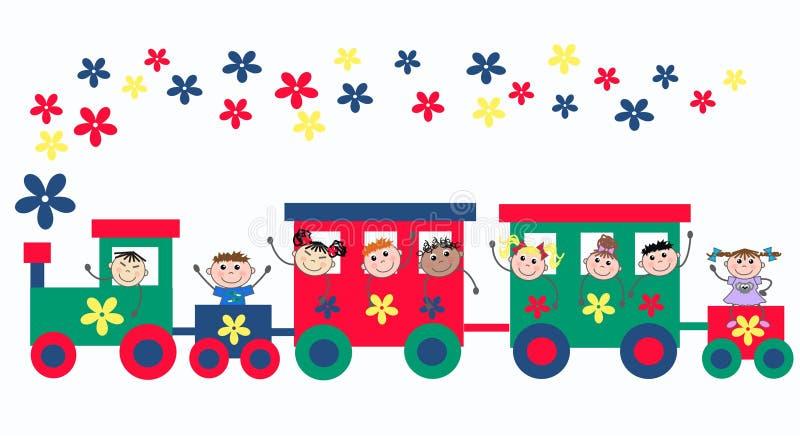 mieszający etniczni dzieciaki royalty ilustracja