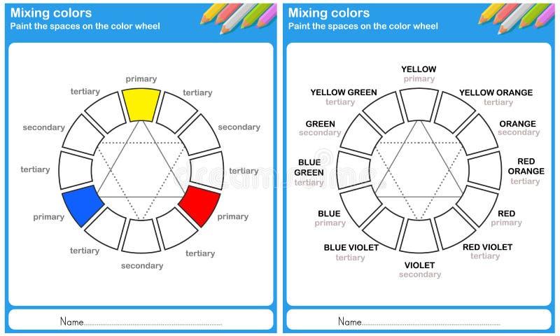 Mieszający kolor - Maluje kolor royalty ilustracja