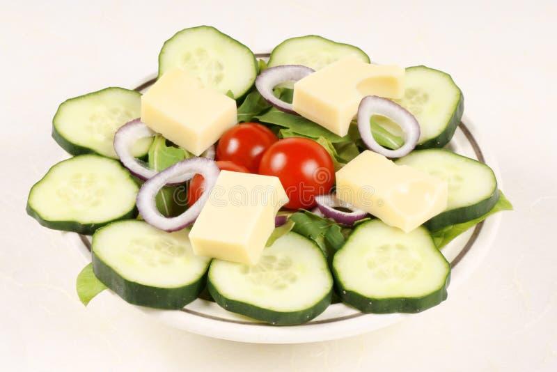 mieszana ser sałatka obraz stock