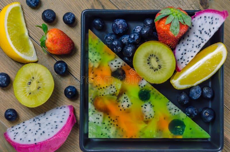 Mieszane galaretowe owoc zdjęcie stock