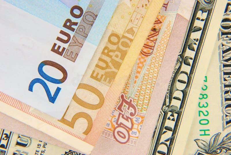 mieszane walut notatki zdjęcia royalty free