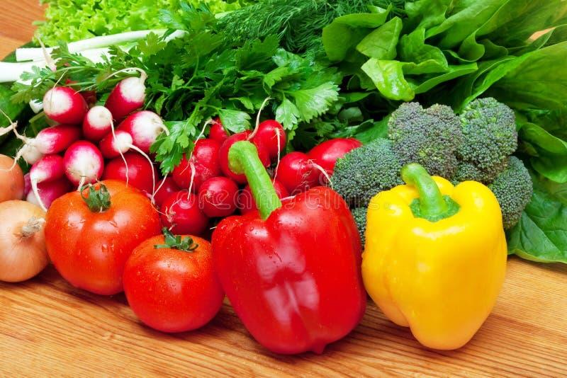 mieszanek świezi warzywa obraz stock