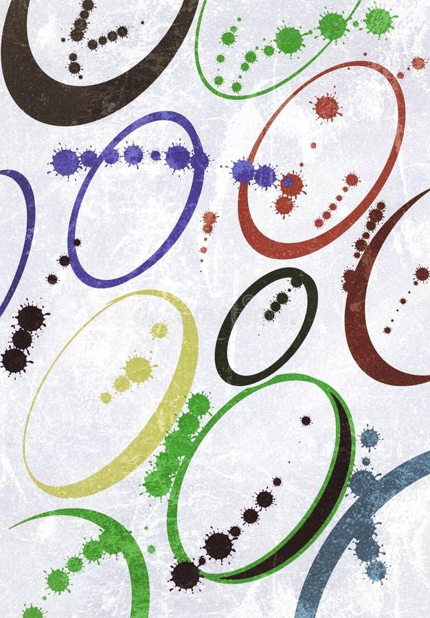 Mieszani colours nad równiny ścianą royalty ilustracja