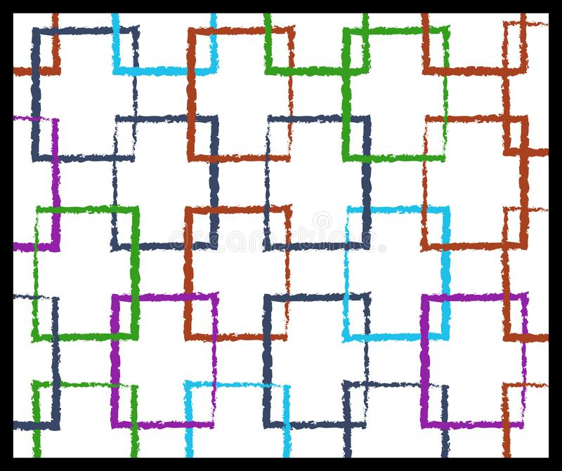 Mieszani kolor ramy projekta wzory obraz royalty free