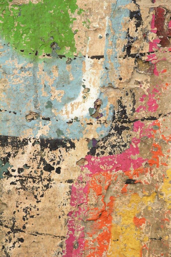 Mieszani kolory i tekstury w ścianie zdjęcie stock