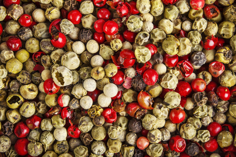 Mieszani peppercorns obrazy royalty free