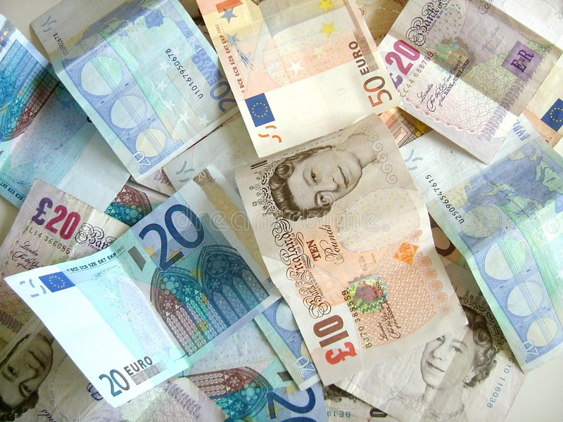 mieszanina pieniądze obrazy stock