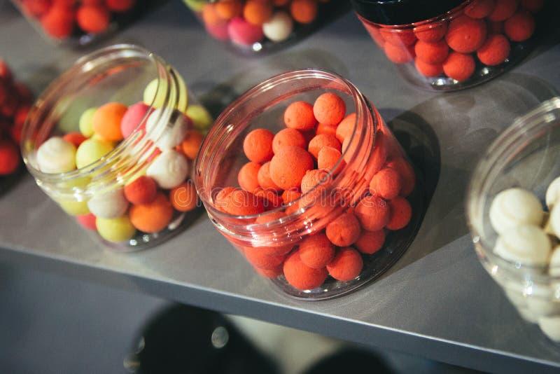 Mieszanka karpiowi popasy Proteinowe piłki i wyrko fotografia royalty free