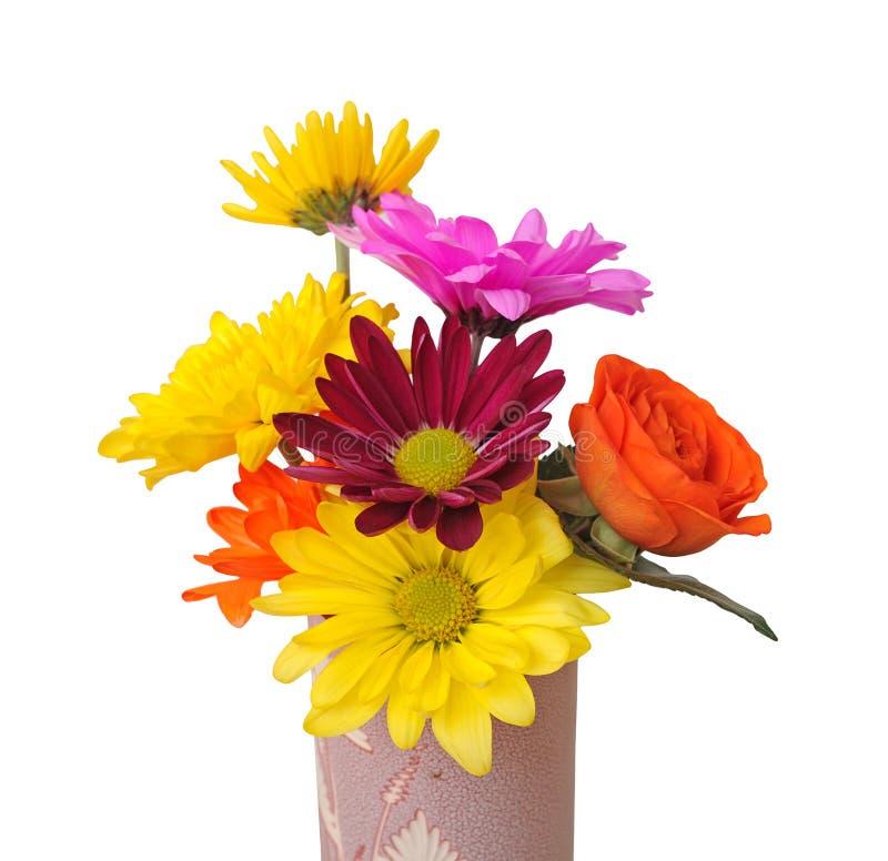 Mieszanka kwiaty w wazie zdjęcia royalty free