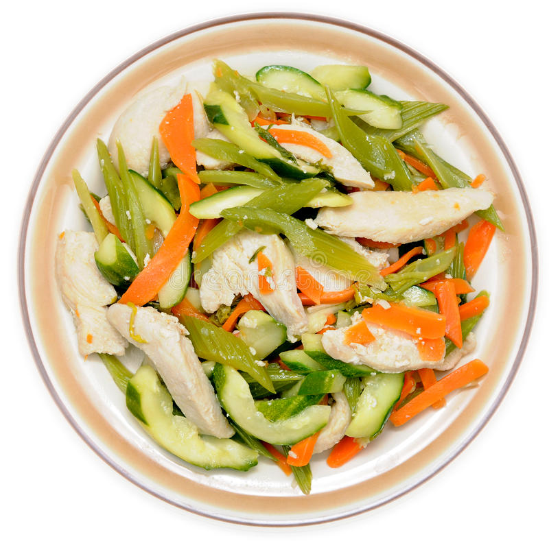 Mieszanka warzywa i kurczaka naczynie obrazy stock