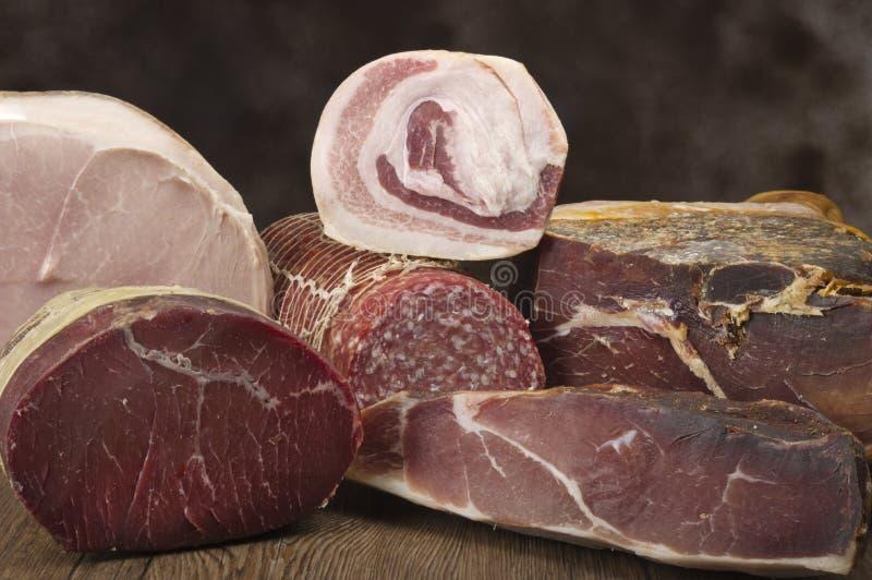 Mieszanka wieprzowina salami fotografia stock