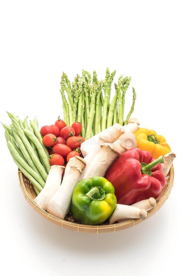 Mieszanki warzywo na koszu zdjęcia royalty free