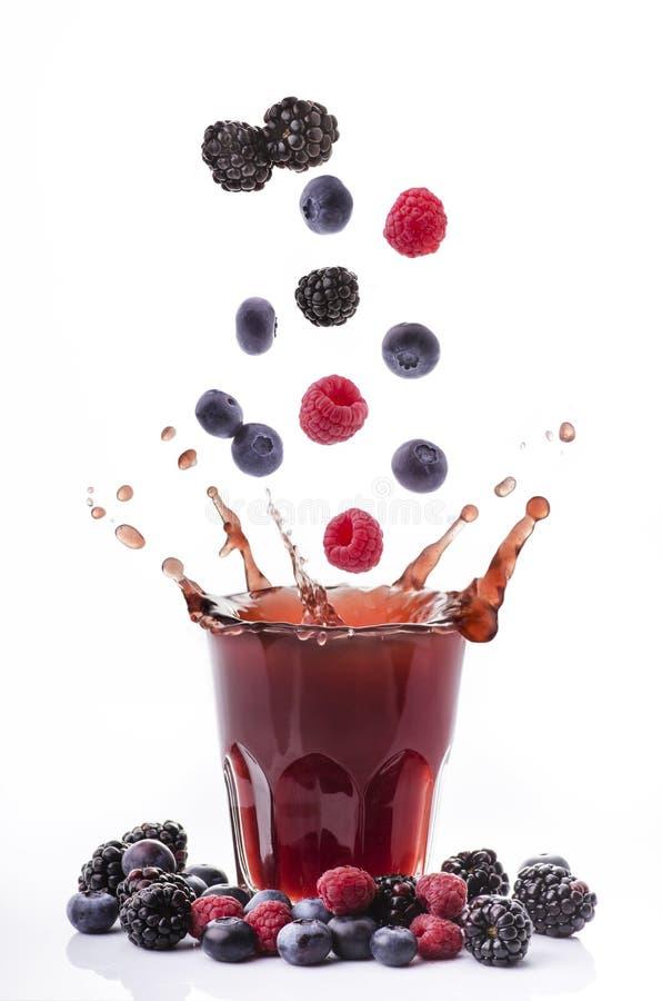 Mieszany jagodowy sok zdjęcie stock