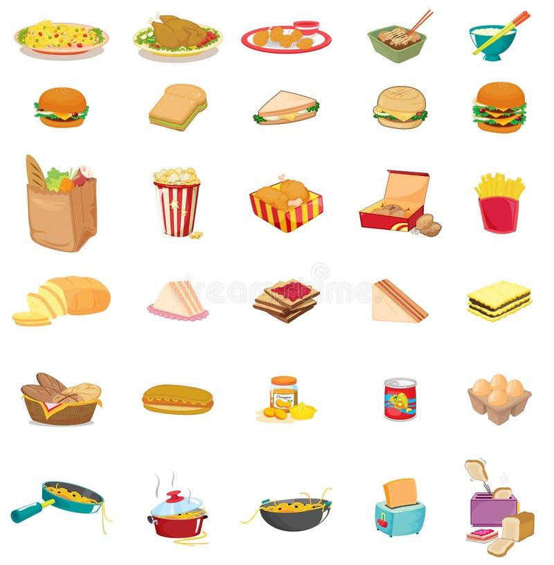 Mieszany jedzenie royalty ilustracja