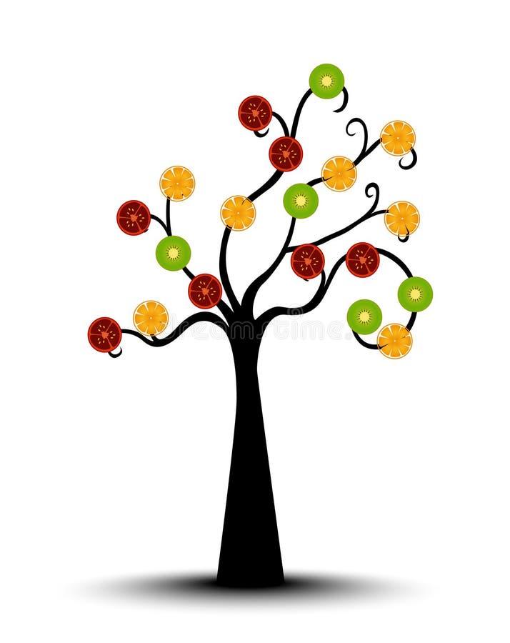 Mieszany owoc drzewo royalty ilustracja
