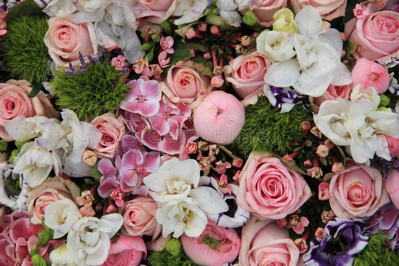 Mieszany różowy ślubny przygotowania zdjęcie royalty free