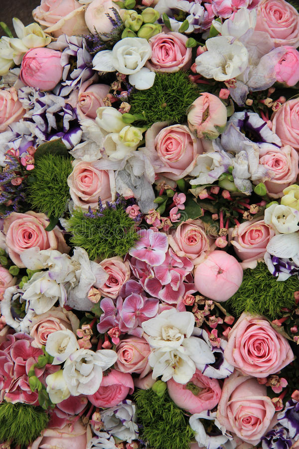 Mieszany różowy ślubny przygotowania obrazy royalty free