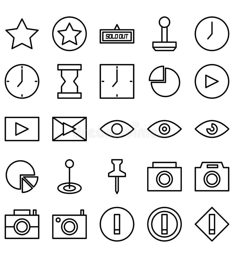 Mieszany szyldowy symbol linii ikony logo lub ilustracja royalty ilustracja