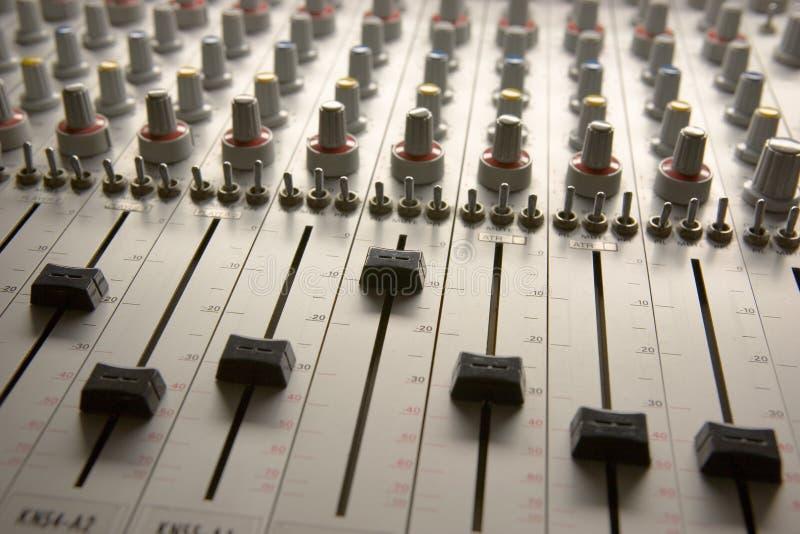 mieszarka audio obrazy stock