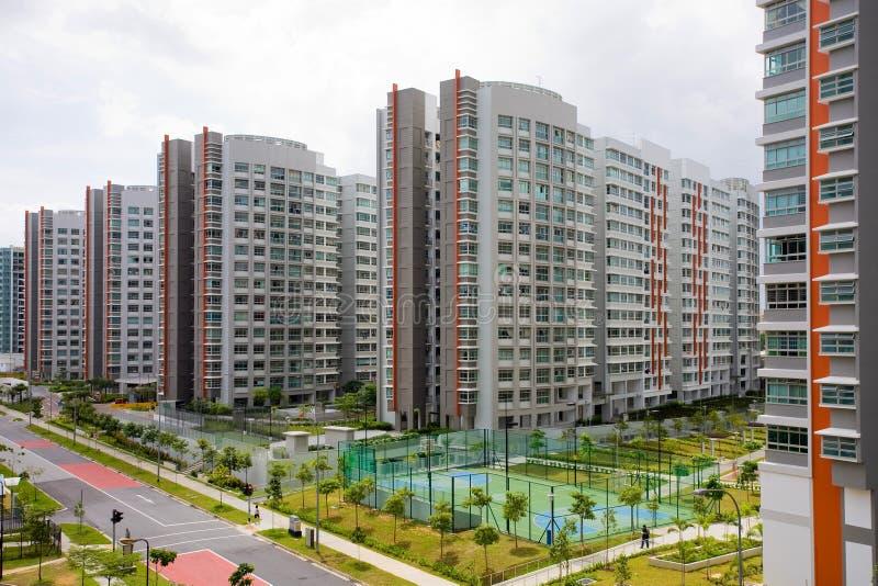 mieszkań hdb wysoki wzrost obraz royalty free