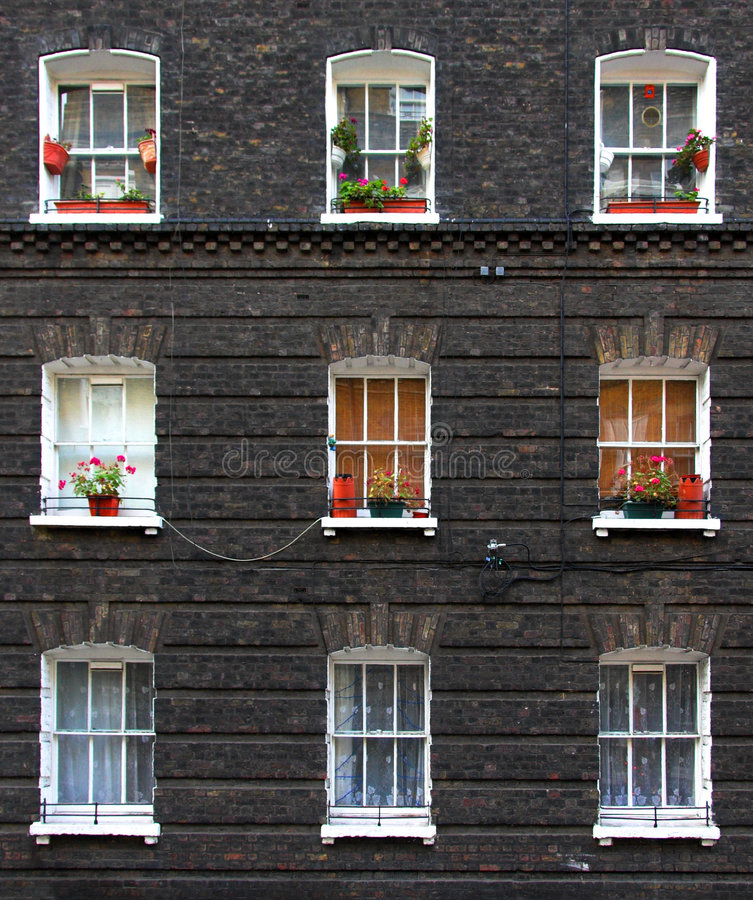 mieszkań okno zdjęcie stock