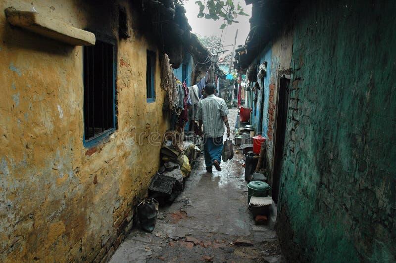 mieszkanów ind kolkata slamsy zdjęcia stock