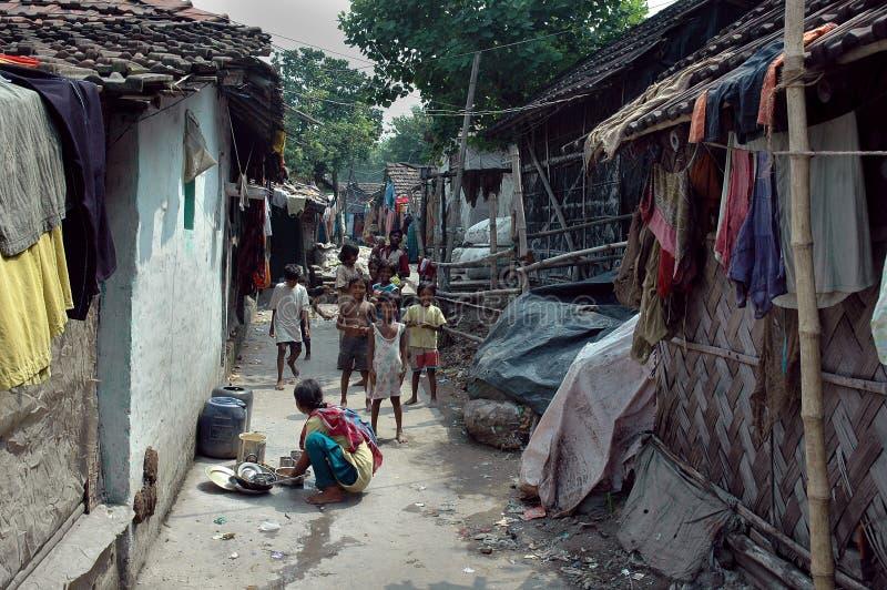 mieszkanów ind kolkata slamsy obrazy stock
