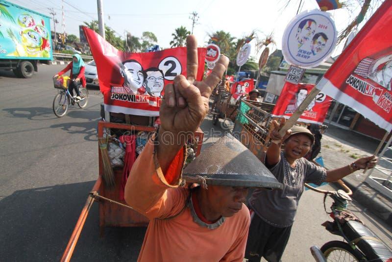 Mieszkana poparcie dla prezydenta Indonezja, Joko Widodo obraz stock