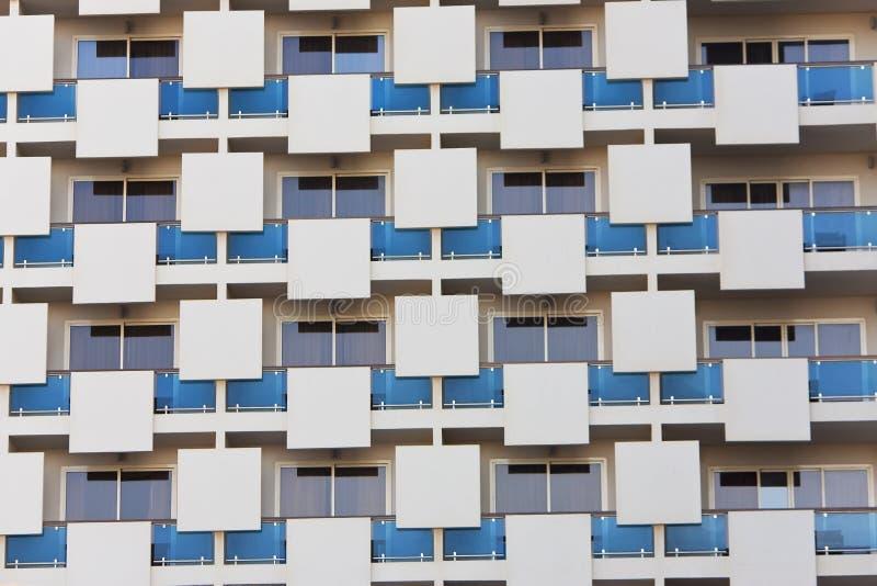 mieszkania architektonicznego budynku nowożytny wzór fotografia stock