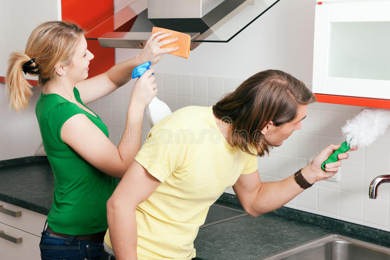 mieszkania cleaning para obrazy royalty free