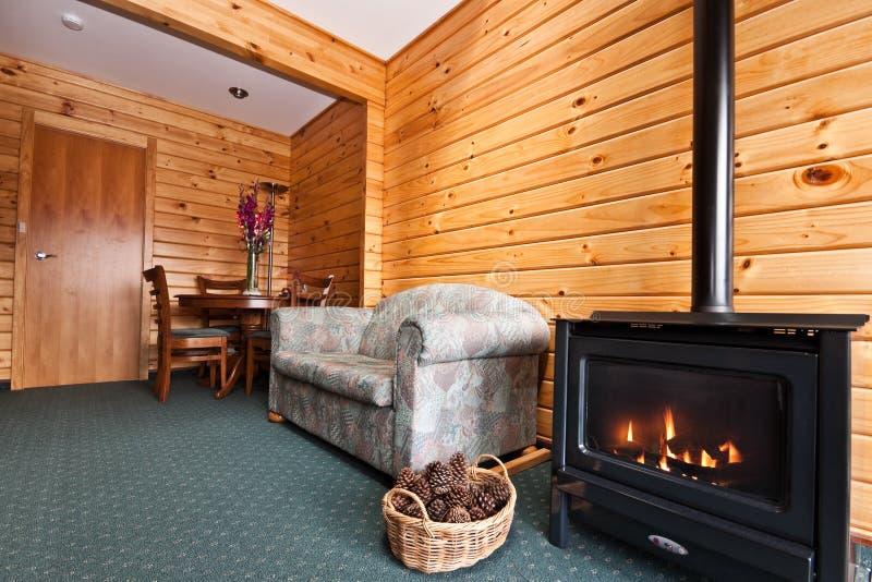 mieszkania lisa lodowa wewnętrzna stróżówka nowy Zealand fotografia stock
