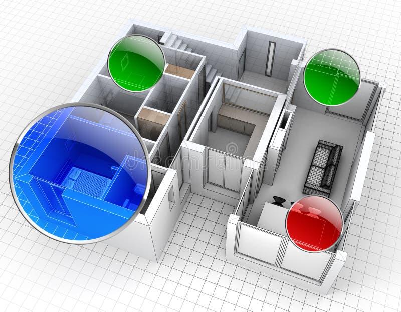 Mieszkania monitorowanie royalty ilustracja