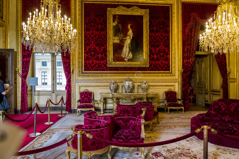 Mieszkania Napoleon III przy louvre zdjęcia stock