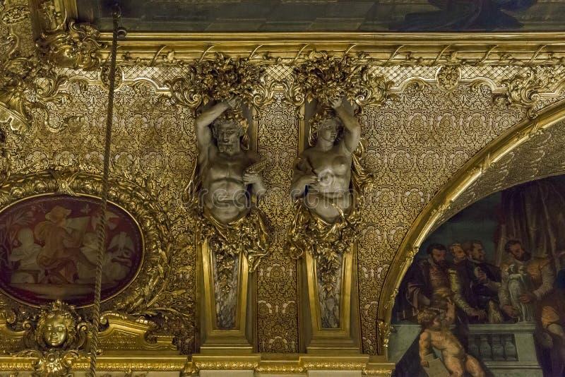 Mieszkania Napoleon III przy louvre fotografia royalty free