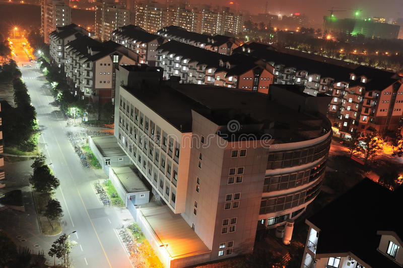 mieszkania noc sceny zdjęcie stock