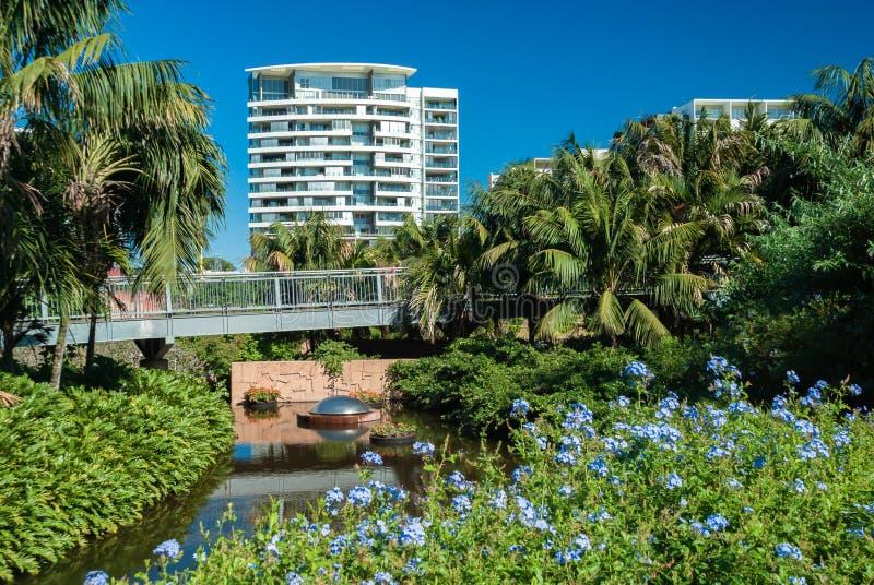 Mieszkania przegapia Brisbane ogródy botanicznych fotografia royalty free