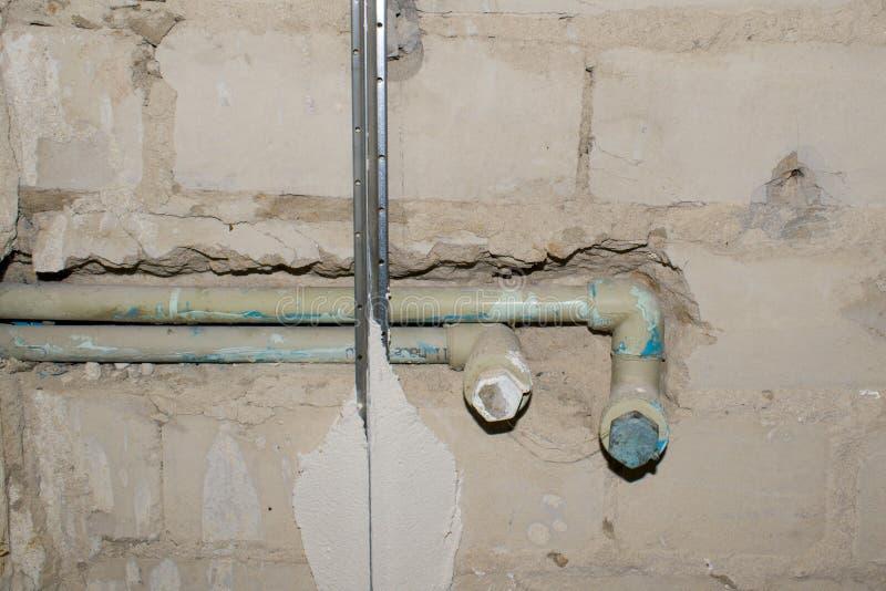 mieszkania przerobu naprawy szklaka ściana Ścienna naprawa Odświeżanie dom Odświeżanie dom Przemodelowywać nieruchomość zdjęcia stock