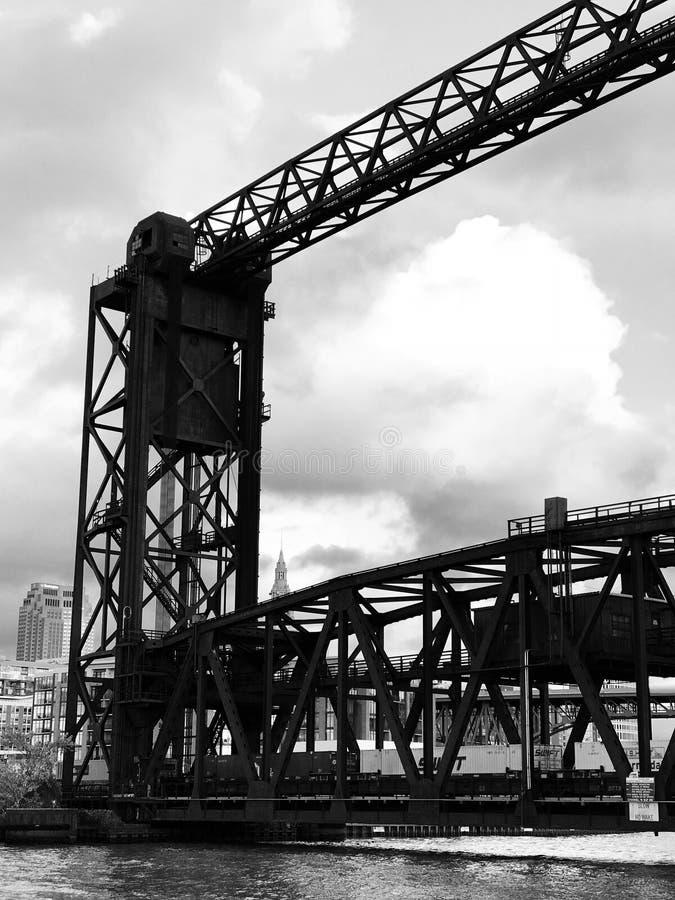 Mieszkania sąsiedztwo w Cleveland wciąż trzyma przemysłowego odczucia _CLEVELAND _OHIO i obrazy stock