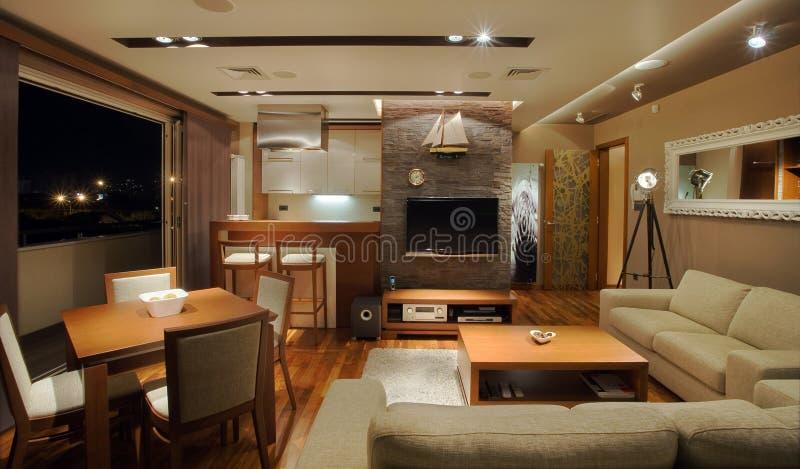 mieszkania wnętrze obrazy royalty free
