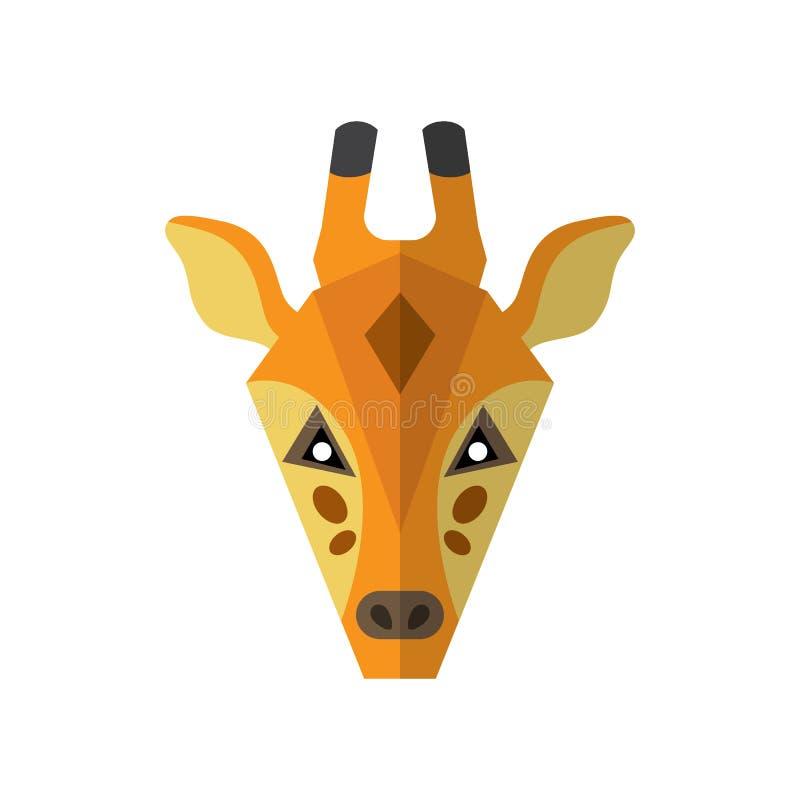 Mieszkanie żyrafy stylowa ikona na białym tle ilustracji