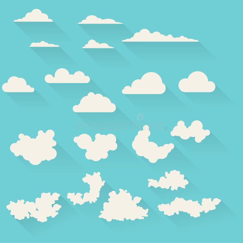 Mieszkanie chmury ustawiać royalty ilustracja