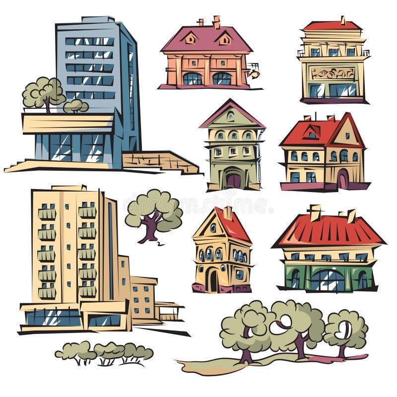 Mieszkanie domy ilustracja wektor