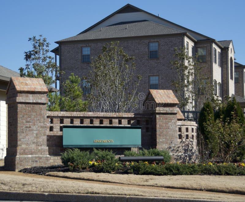 Mieszkanie domy & Luksusowy Żywy kompleks fotografia stock