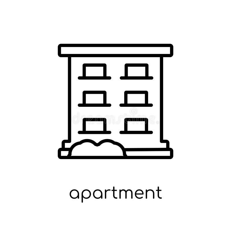 Mieszkanie ikona od kolekcji royalty ilustracja