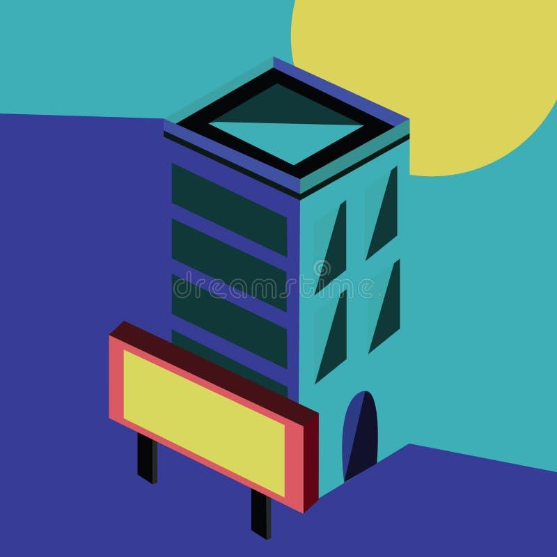 Mieszkanie Isometric ilustracja wektor