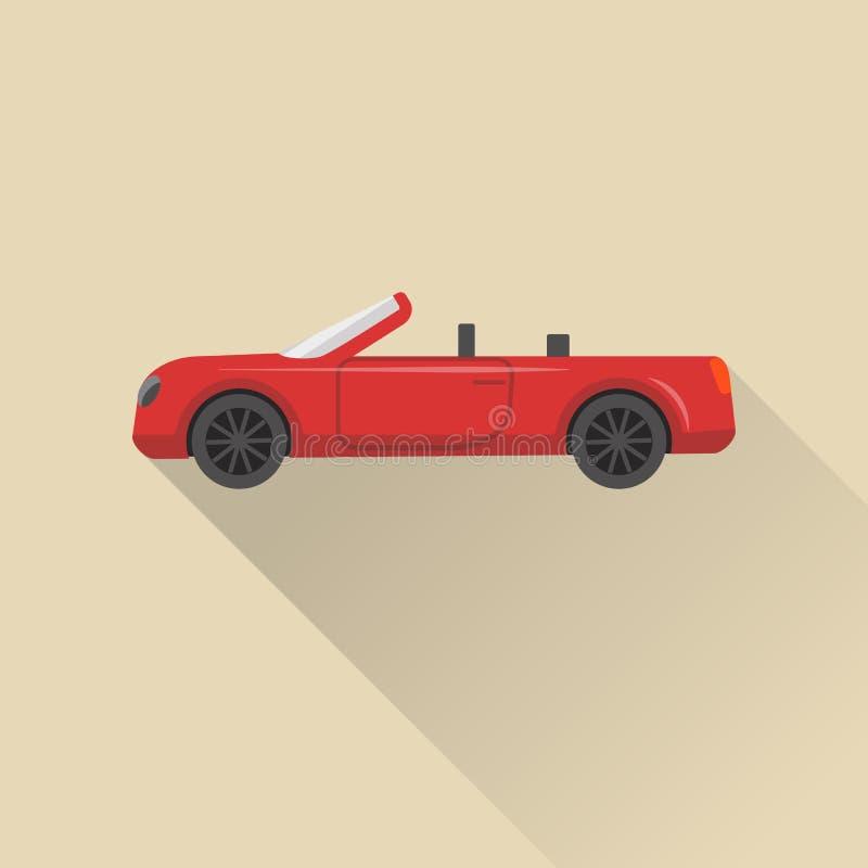 Mieszkanie kabrioletu samochodu stylowa ikona royalty ilustracja