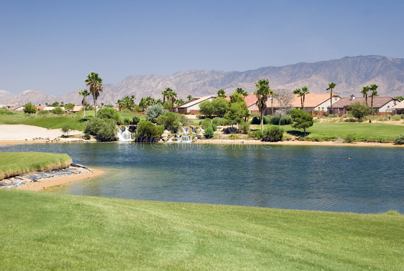 mieszkanie kursu golfa obraz stock